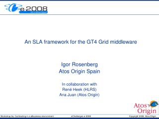 An SLA framework for the GT4 Grid middleware