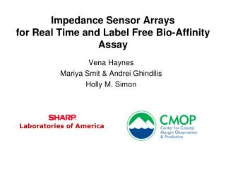 Impedance Sensor Arrays for Real Time and Label Free Bio-Affinity Assay
