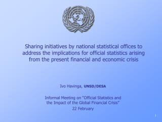 Ivo Havinga,  UNSD/DESA
