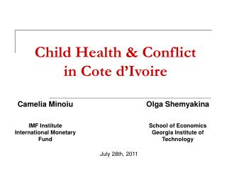 Child Health & Conflict  in Cote d'Ivoire