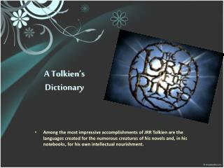 A Tolkien's Dictionary