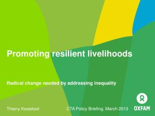 Promoting resilient livelihoods