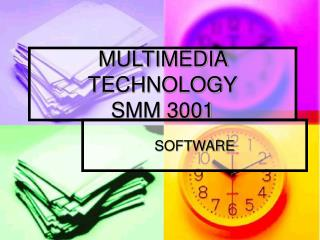 MULTIMEDIA TECHNOLOGY SMM 3001
