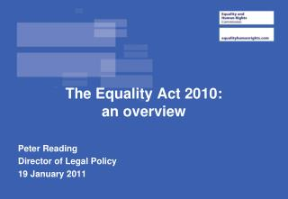 The Equality Act 2010:   an overview