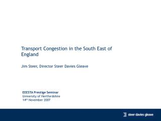 Transport Congestion in the South East of England