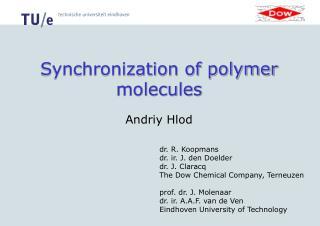 Synchronization of polymer molecules