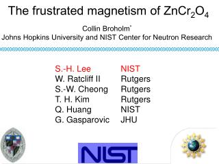 The frustrated magnetism of ZnCr 2 O 4