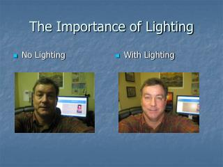The Importance of Lighting
