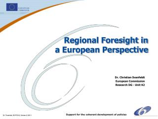 Regional Foresight in a European Perspective