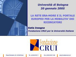 Università di Bologna 20 gennaio 2005
