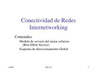 Conectividad de Redes Internetworking