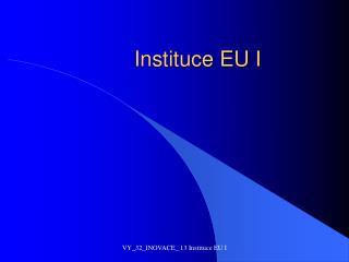 Instituce EU I