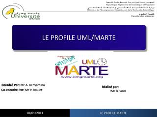 LE PROFILE UML/MARTE