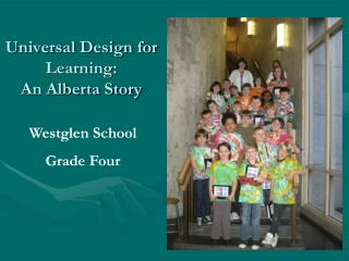 Universal Design for Learning: An Alberta Story