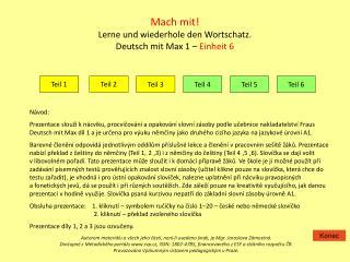 Mach mit! Lerne und wiederhole den Wortschatz. Deutsch mit Max 1 –  Einheit 6