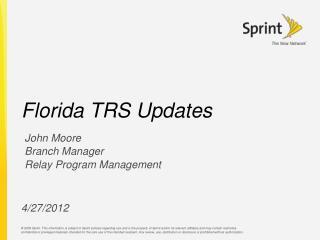 Florida TRS Updates