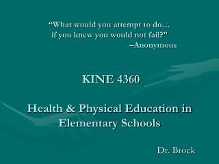 Dr. Brock