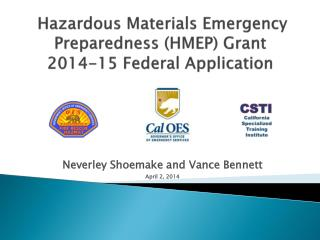 Hazardous Materials Emergency Preparedness (HMEP) Grant 2014-15 Federal Application