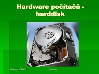 Hardware počítačů - harddisk