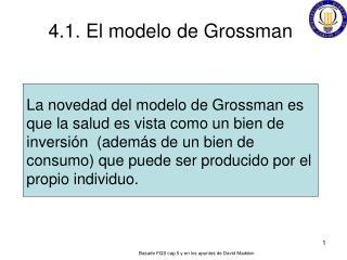 4.1. El modelo de Grossman