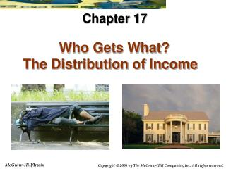 Who Gets What The Distribution of Income