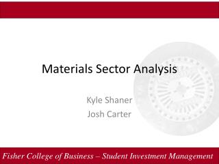 Materials Sector Analysis