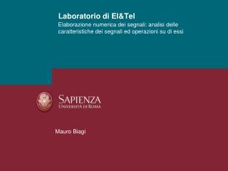 Laboratorio di El&Tel