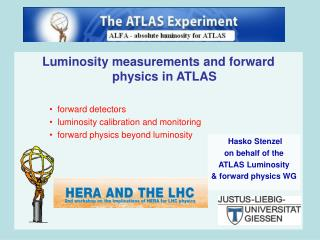 Luminosity measurements and forward physics in ATLAS forward detectors