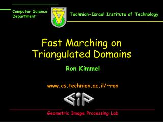 Fast Marching on Triangulated Domains
