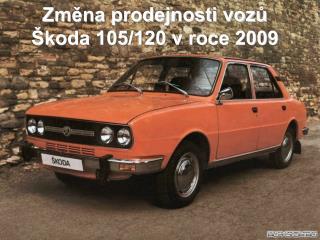 Změna prodejnosti vozů Škoda 105/120 v roce 2009