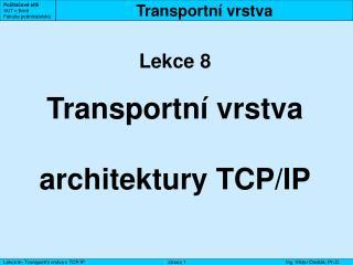 Transportní vrstva