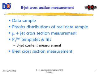 B-jet cross section measurement