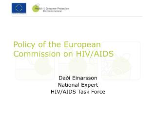Policy of the European Commission on HIV/AIDS