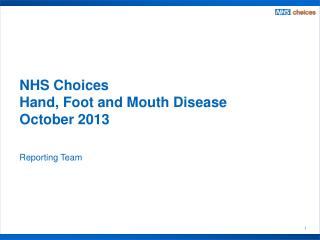 NHS Choices  Hand, Foot and Mouth Disease October 2013