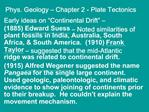 Phys. Geology   Chapter 2 - Plate Tectonics