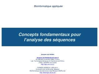 Concepts fondamentaux pour  l ' analyse des séquences