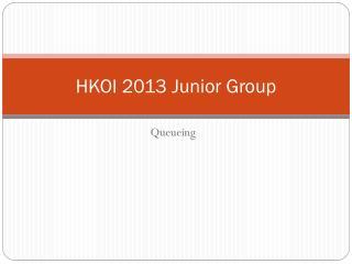HKOI 2013 Junior Group