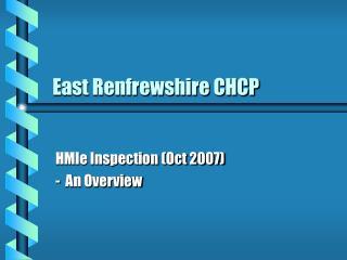 East Renfrewshire CHCP