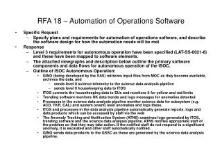 RFA 18 – Automation of Operations Software