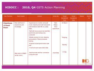 HISOCC :    2010, Q4  GSTS Action Planning