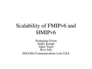 Scalability of FMIPv6 and HMIPv6