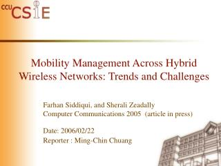 Mobility Management Across Hybrid Wireless Networks: Trends and Challenges