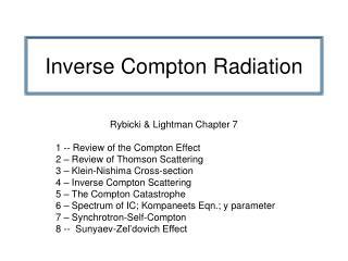 Inverse Compton Radiation