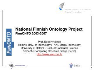 National Finnish Ontology Project FinnONTO 2003-2007