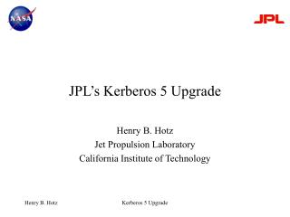 JPL's Kerberos 5 Upgrade