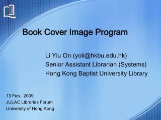 Book Cover Image Program