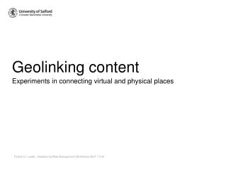 Geolinking content