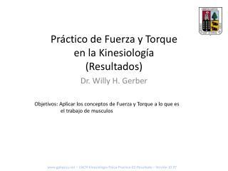 Práctico de  Fuerza y Torque en la Kinesiología (Resultados)