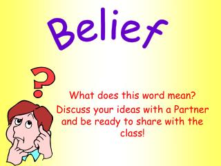 What does this word meanDiscuss your ideas with a Partner and be ready to share with the class