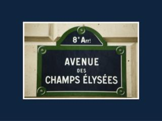 The Champs Elysees has been around    for many years. This is the avenue from